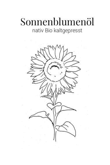 Sonnenblumenöl-nativ-Bio-kaltgepresst